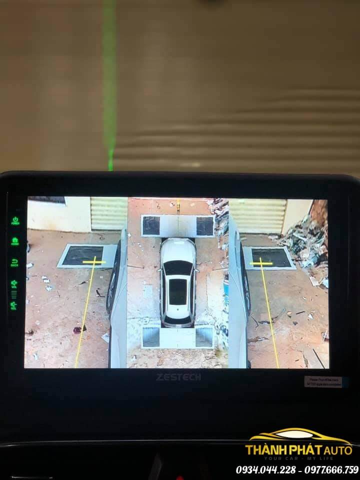 Sản Phẩm Camera 360 độ zestech xe Hyundai Santafe